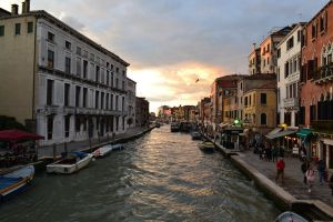 venice sunset canal