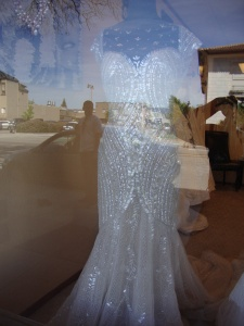 A wedding dress spotted at Alameda