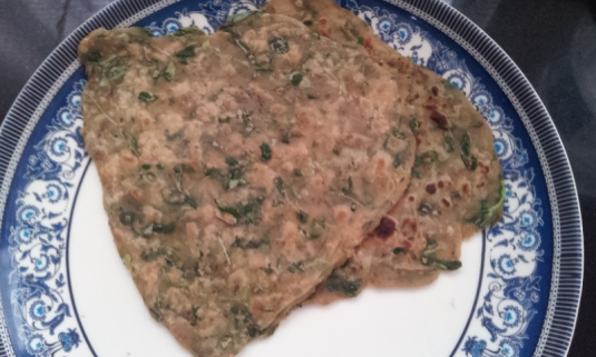 Yummy Methi  Paratha (Flatbread)